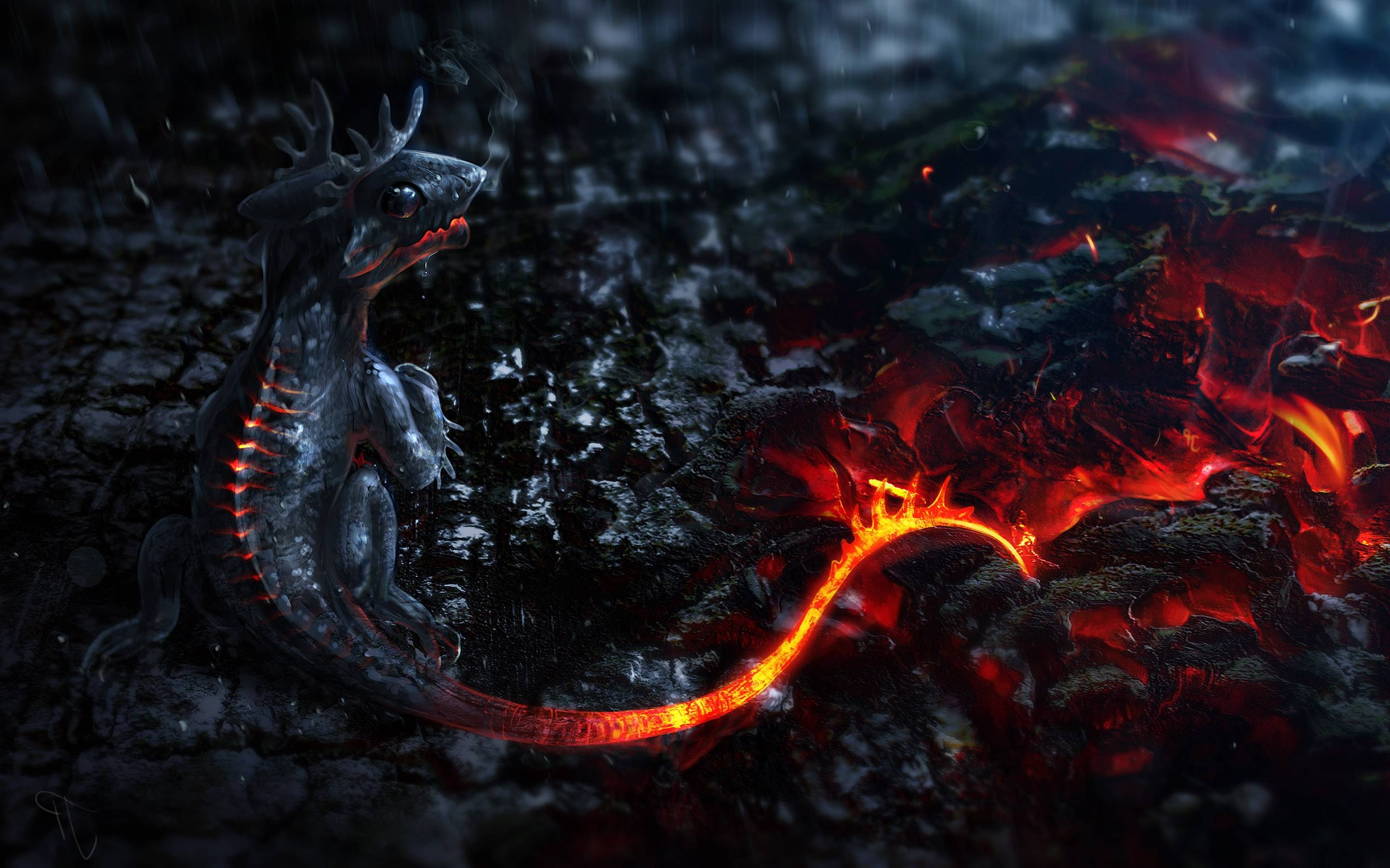 Wallpapers For > Awesome Fire Dragon Wallpapers