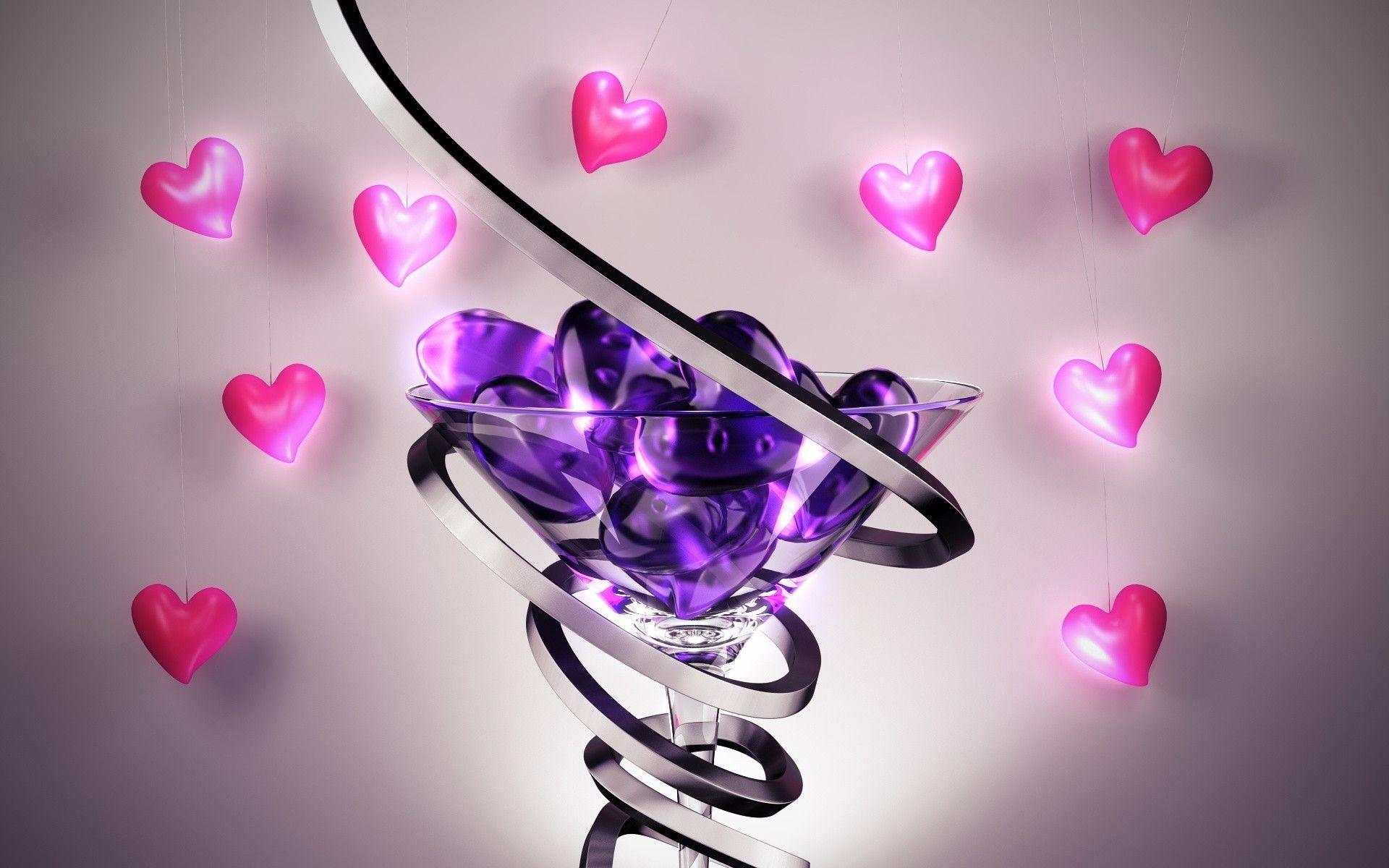 Purple love wallpapers wallpaper cave for Purple wallpaper 3d