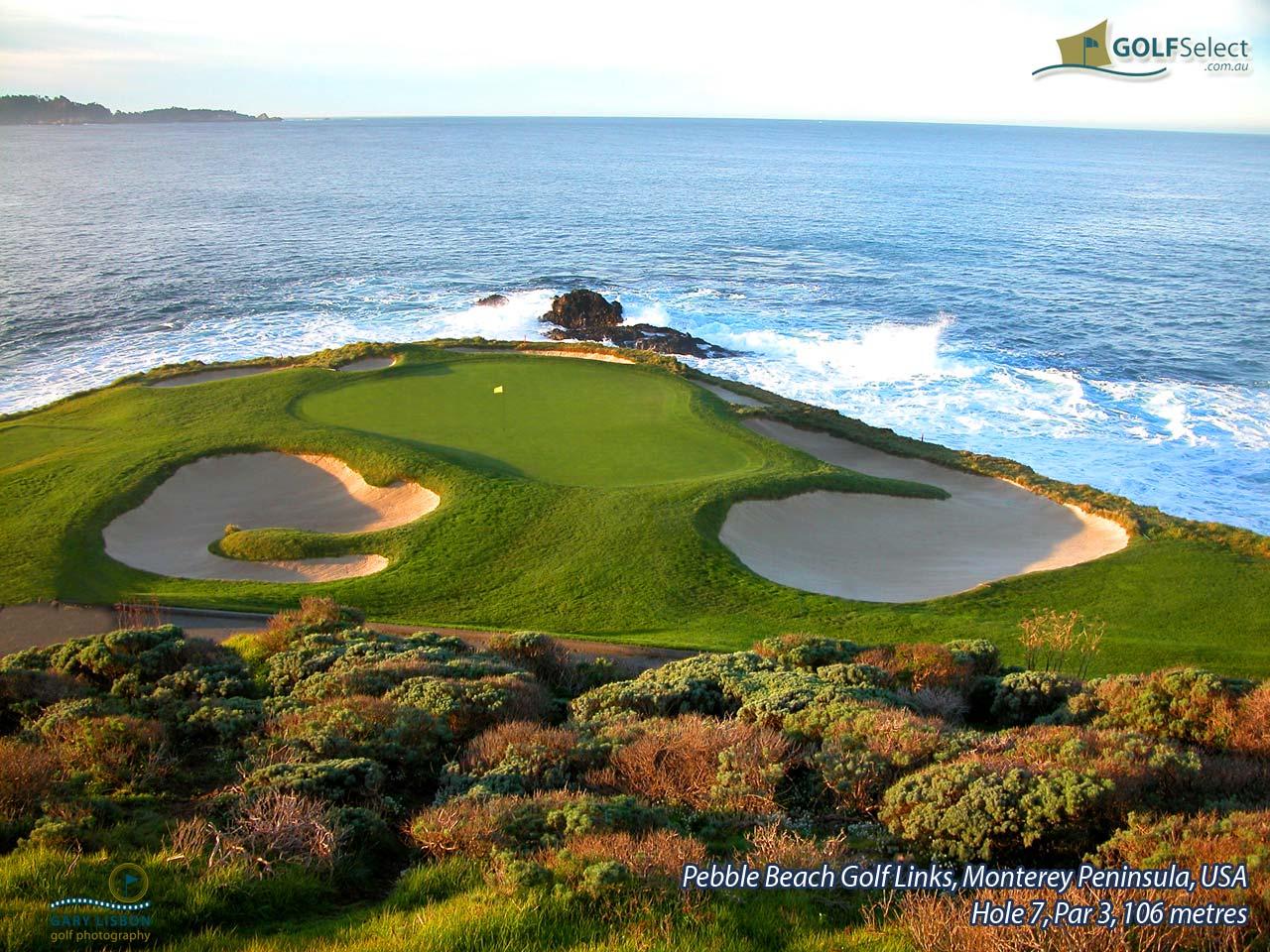 Golfselect Golf Wallpaper Pebble Beach Links Hole 7