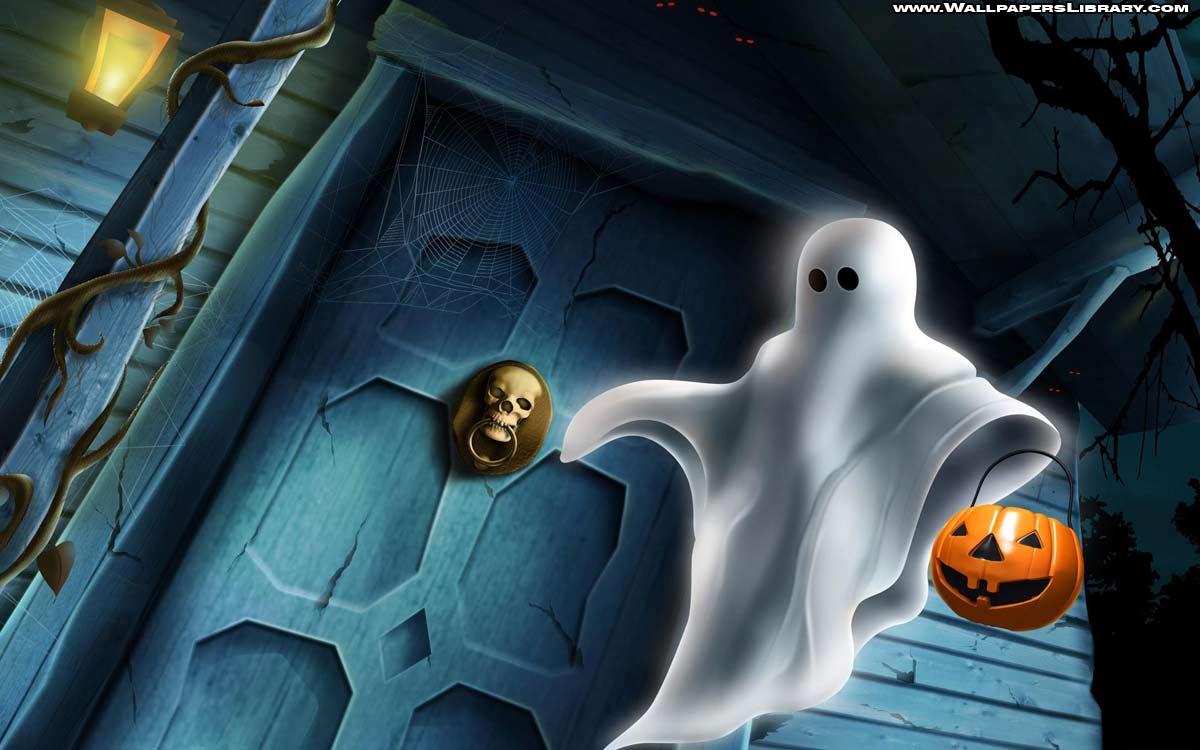 Spooky Halloween Ghost Wallpaper Halloween Backgrounds