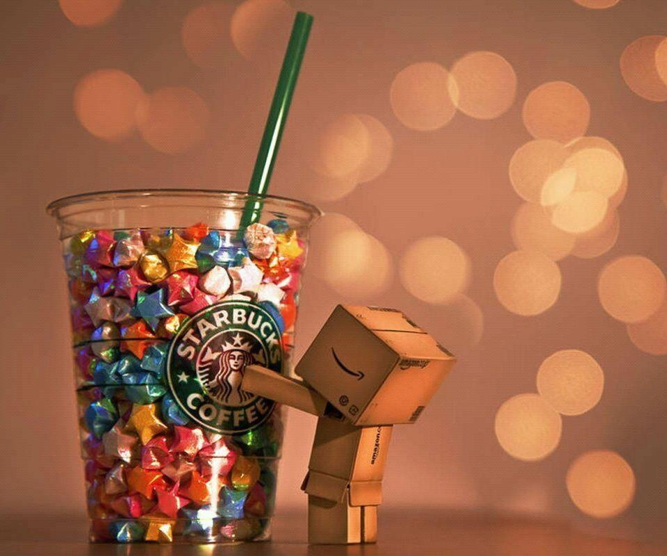 Danbo Starbucks wallpaper for mobile phone