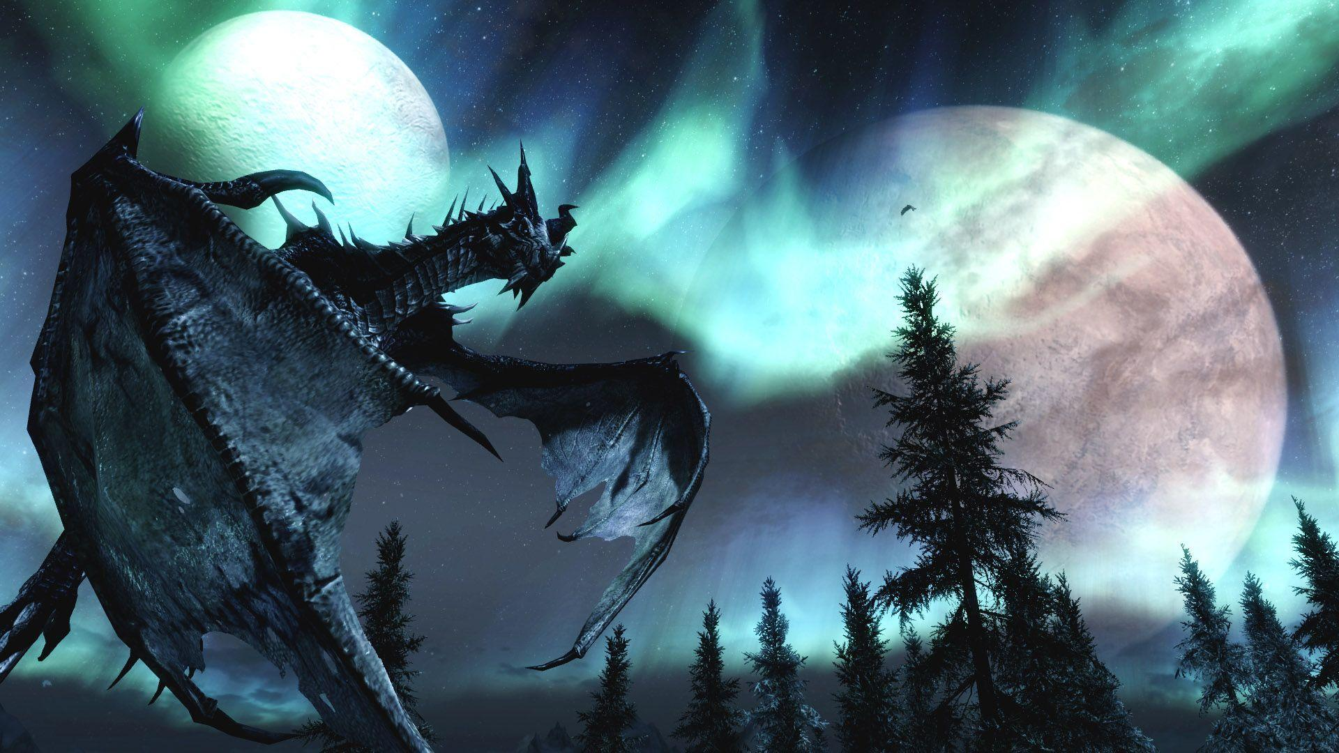 Description The Wallpapers Above Is Dragon Fire Skyrim Wallpapers In