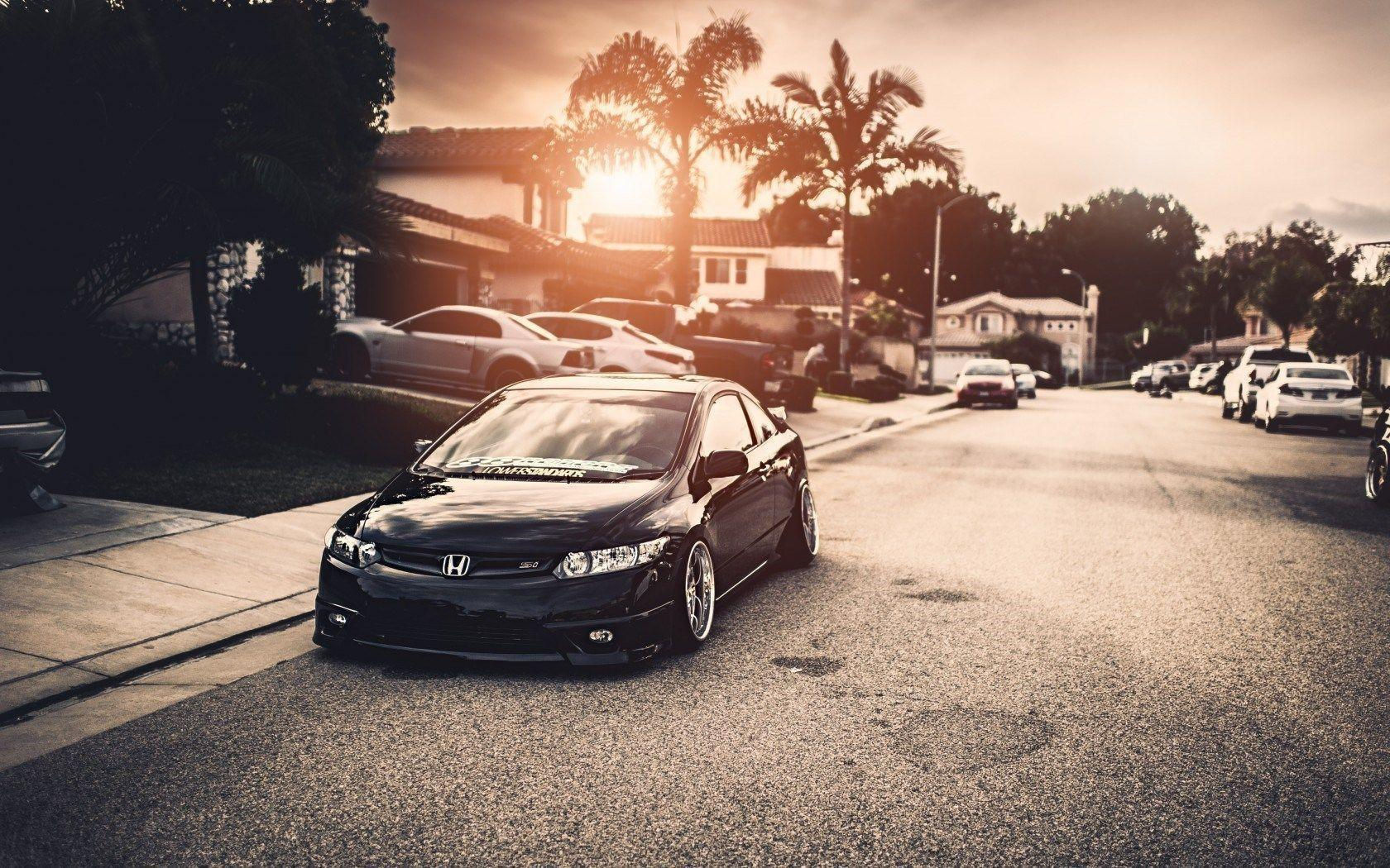 Honda Civic Car Tuning Parking HD Wallpapers