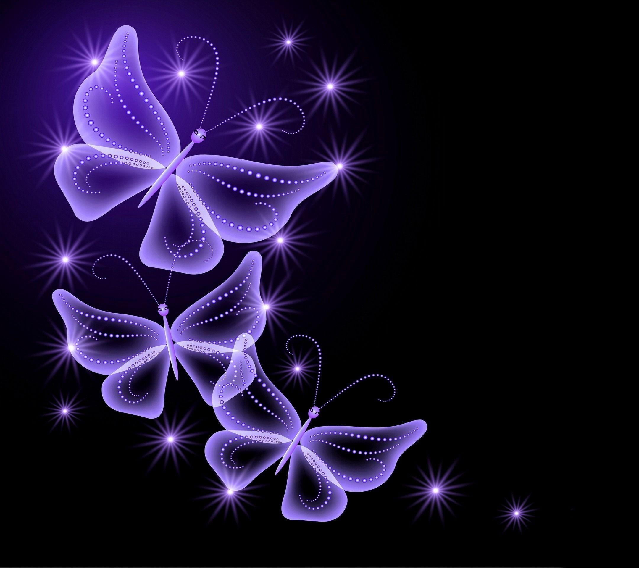 Purple butterfly backgrounds wallpaper cave for Black and purple wallpaper