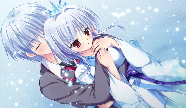 anime couple hugging wallpapers - photo #23
