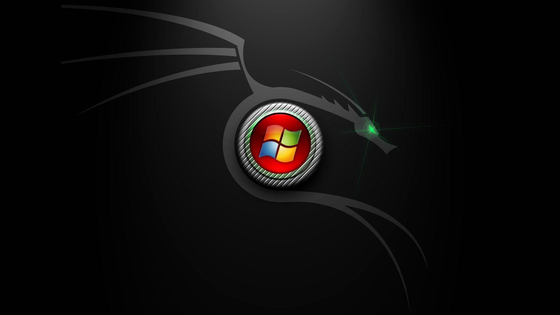 Image For > Windows Logo Wallpapers Black