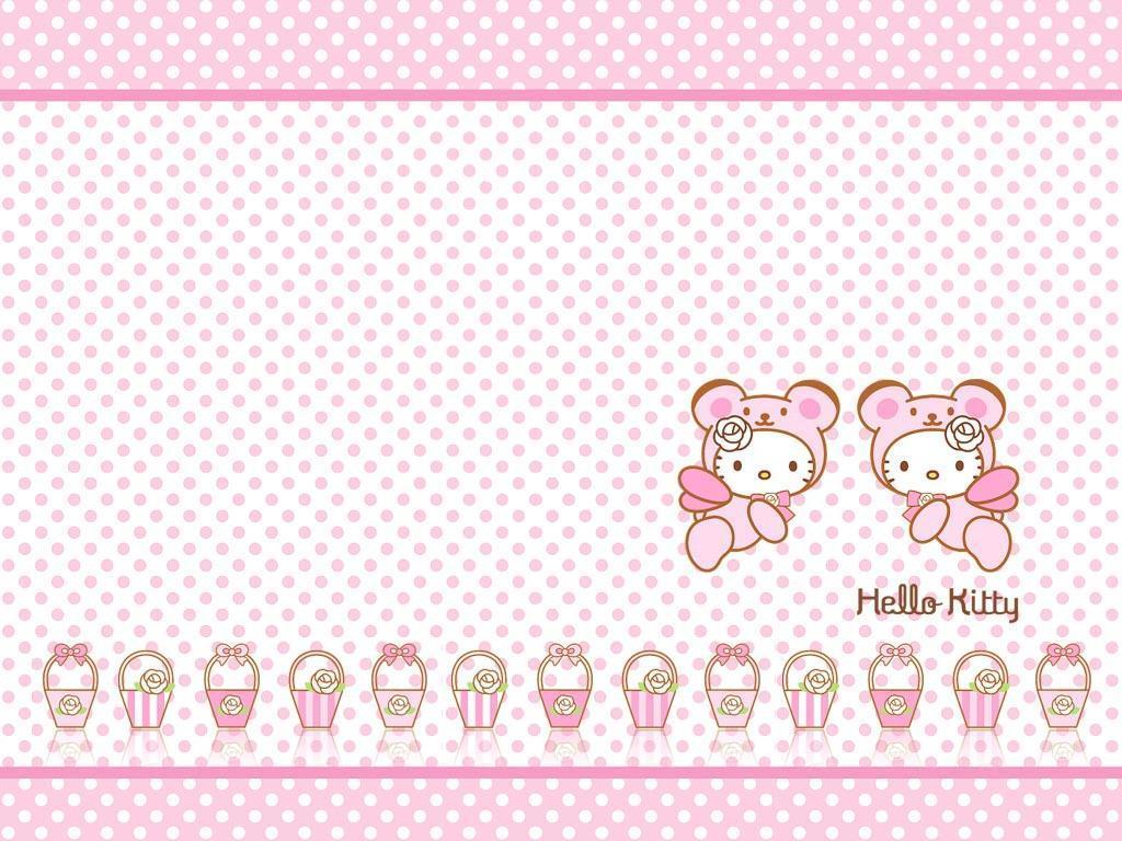 cute pink hello kitty wallpaper - photo #2