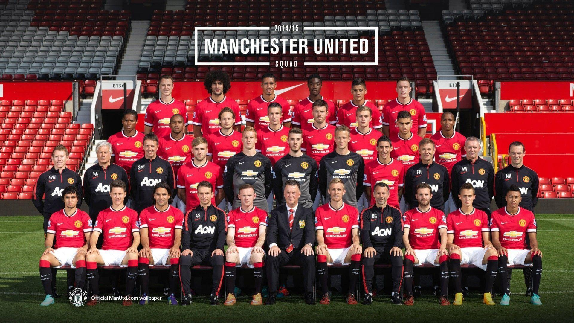 manchester united players 2014 2015 wallpaper hd free download
