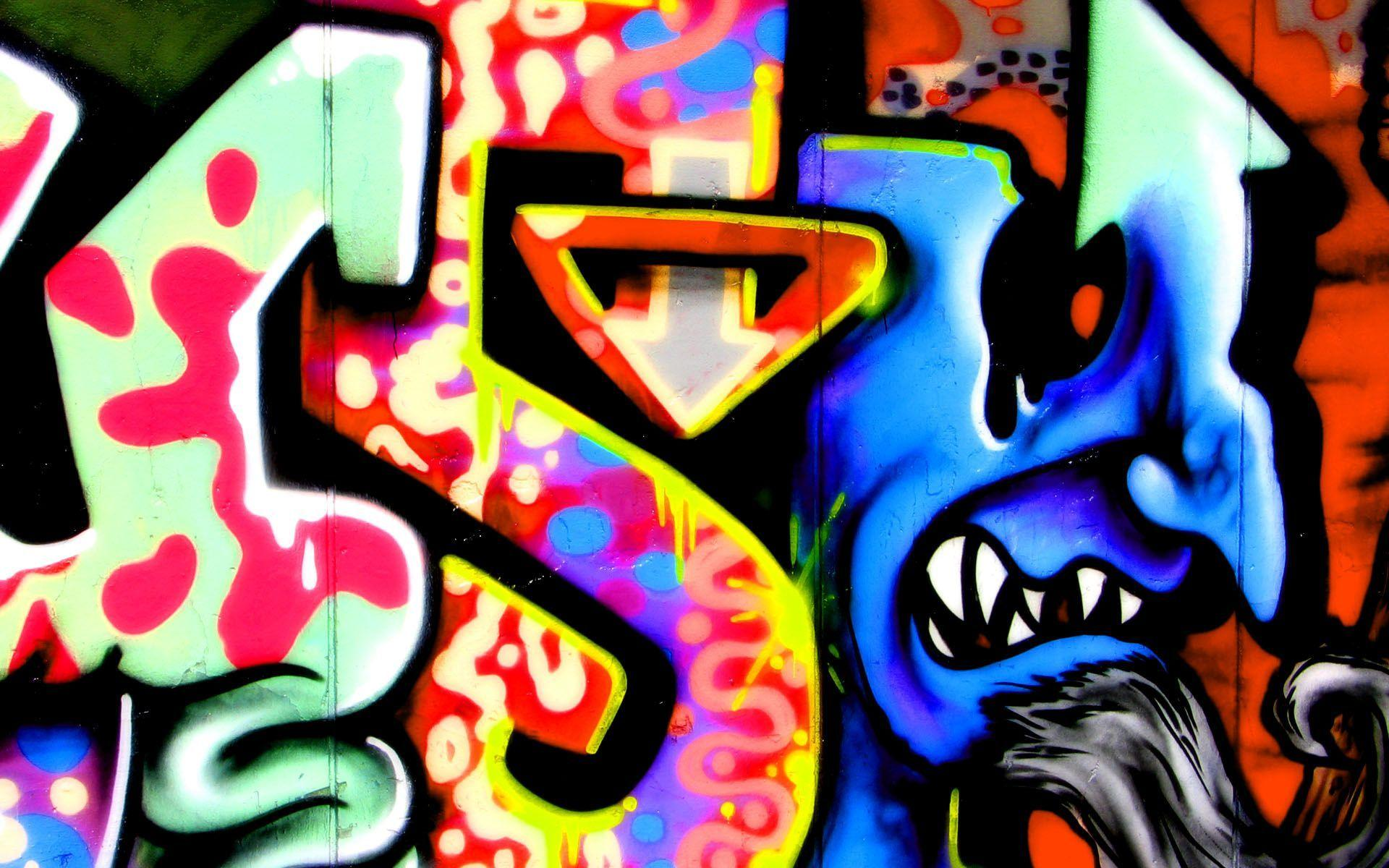 Awesome graffiti backgrounds wallpaper cave for Graffiti wallpaper