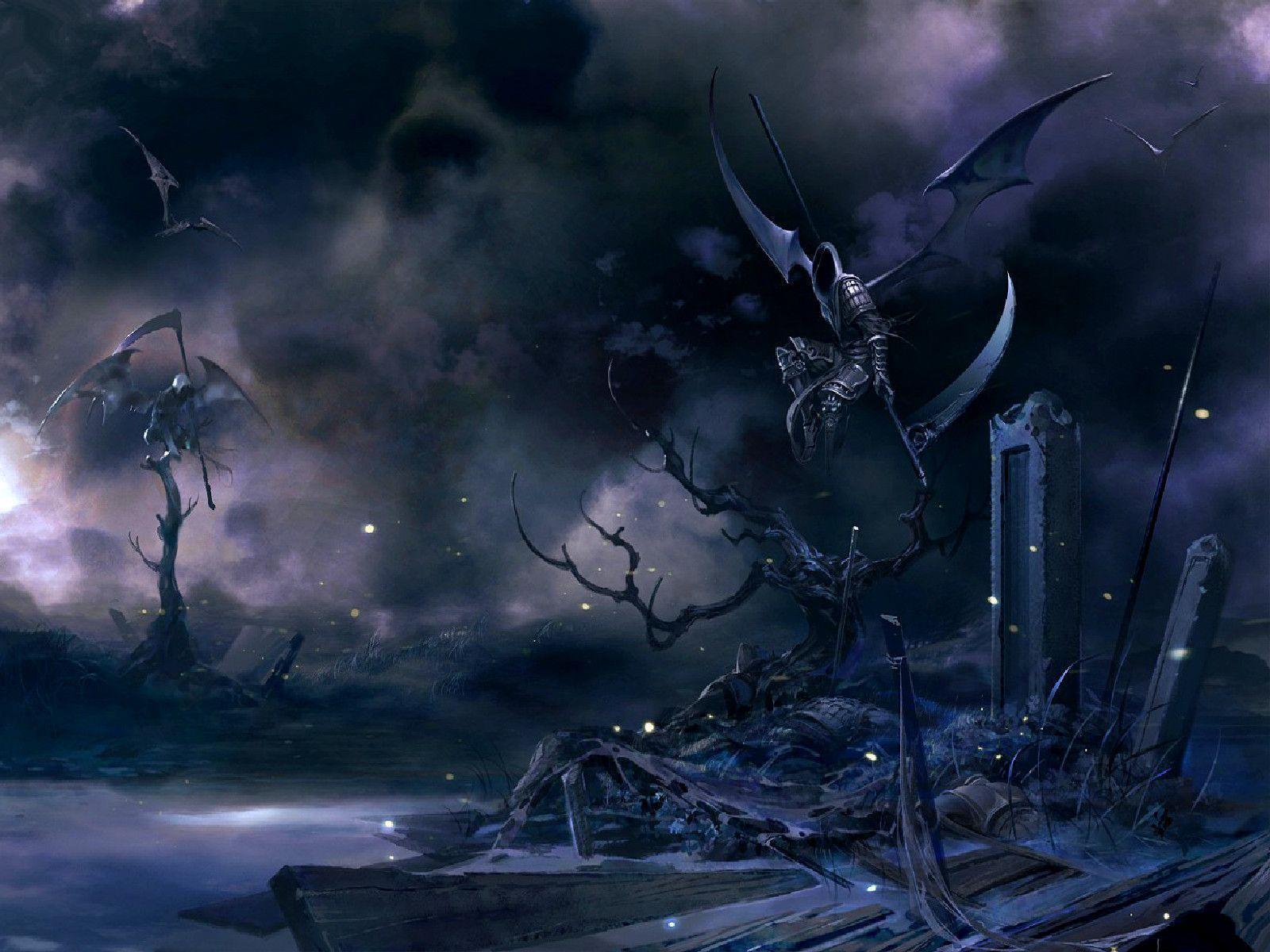 Wallpapers For > Dark Grim Reaper Wallpaper Purple