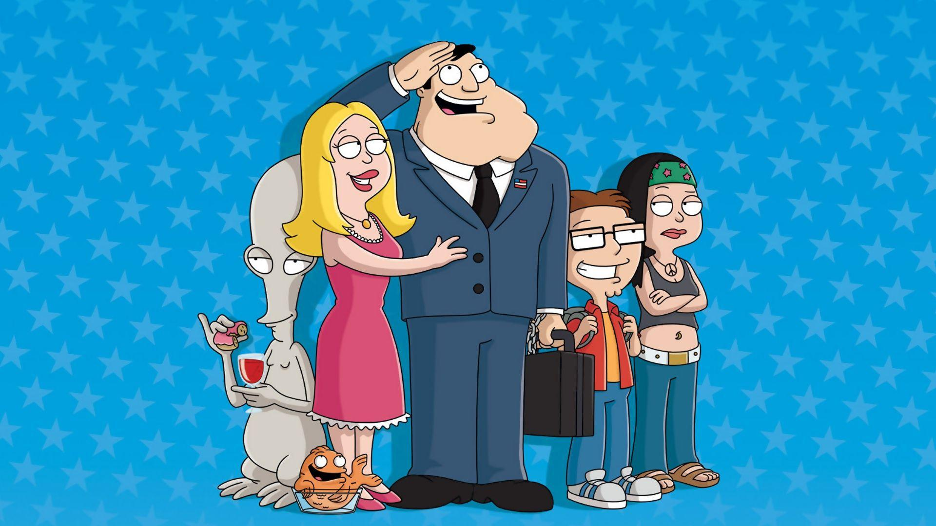 American Dad Blue Wallpaper 39940 in Movies - Telusers.