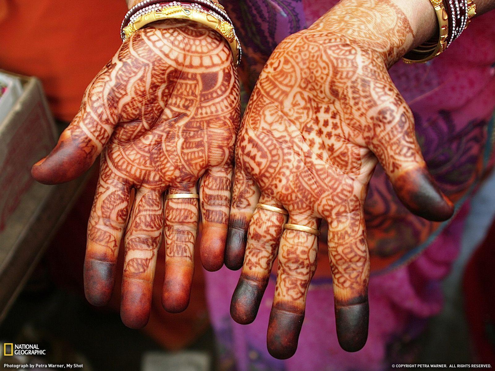Henna Hands Photo, India Wallpaper – National Geographic Photo of ...