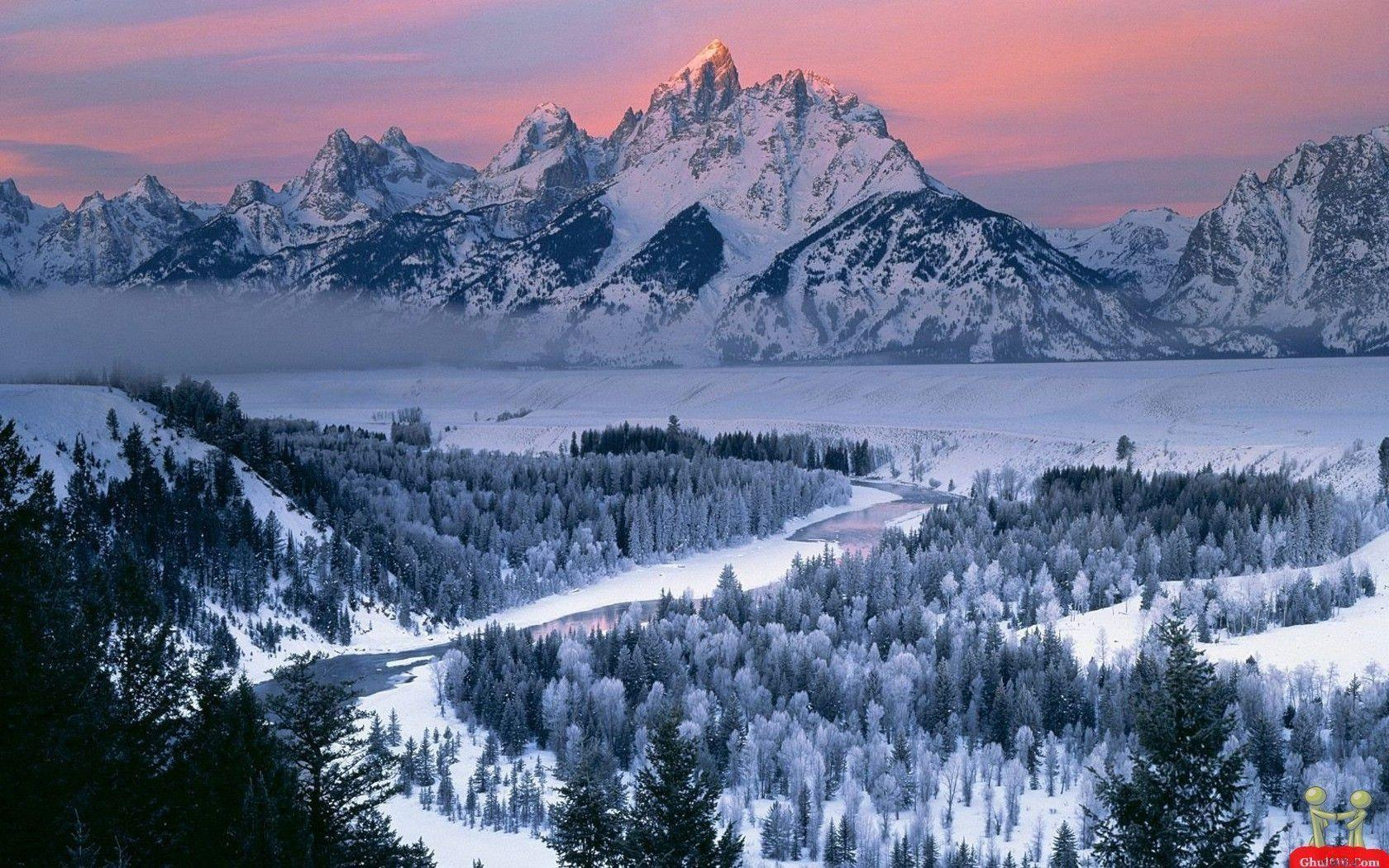 snowy nature wallpaper - photo #40