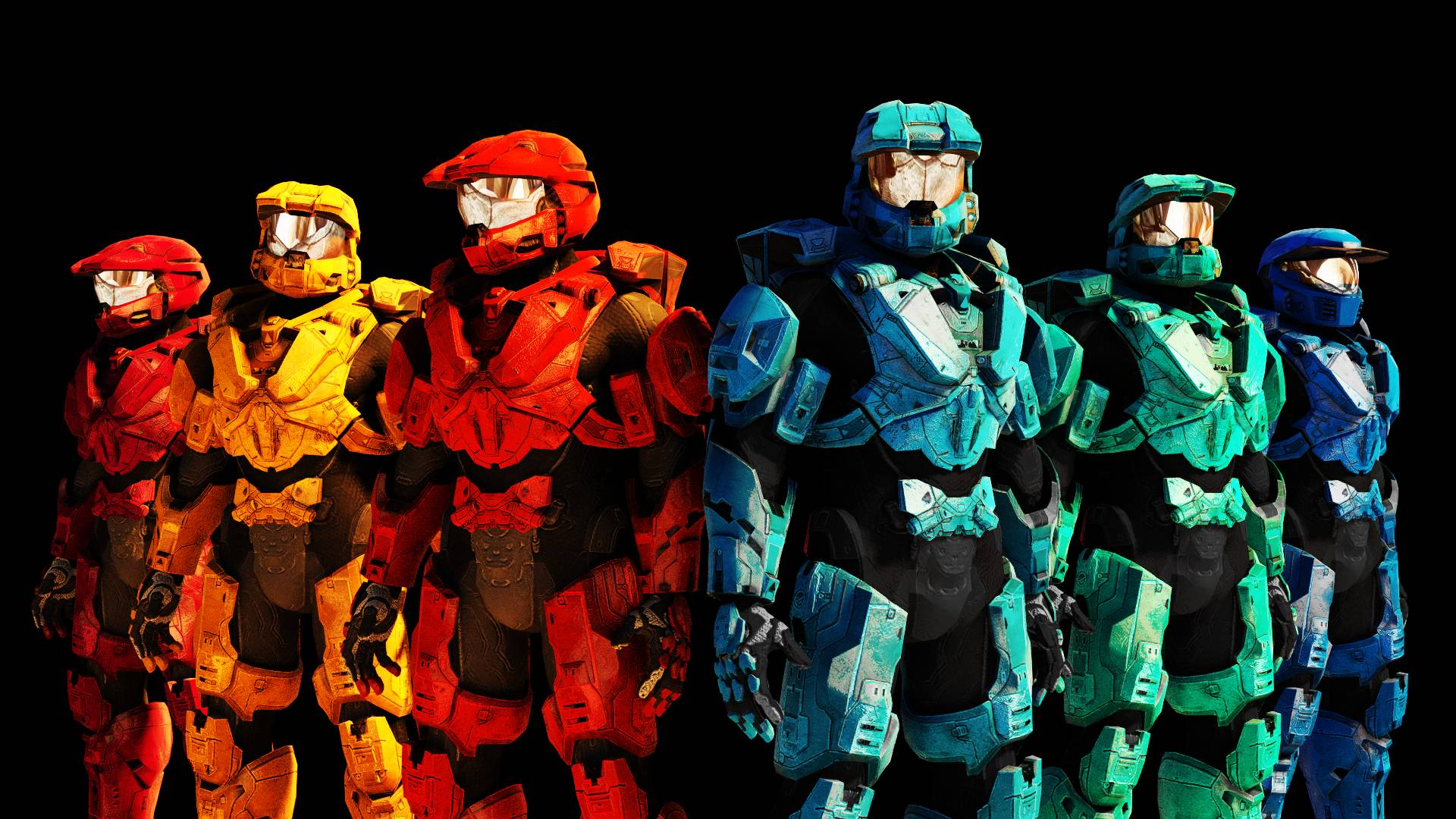 Red vs. Blue (1920x1080) : wallpapers