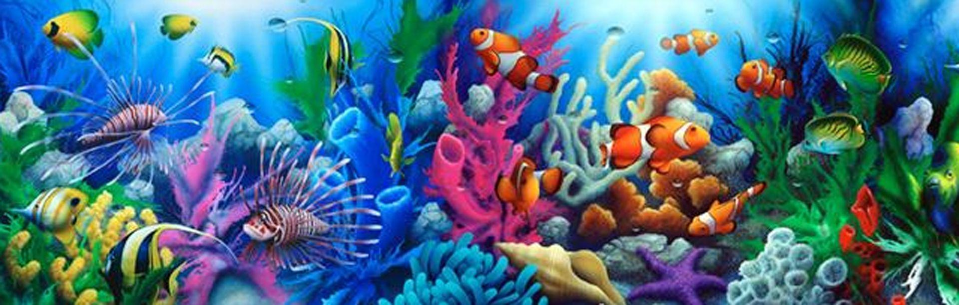 tropical coral reef mural | Wallpaper Murals