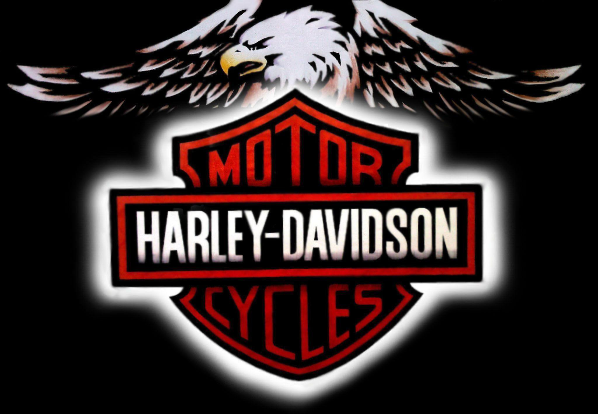 newest harley davidson logo wallpapers - photo #2