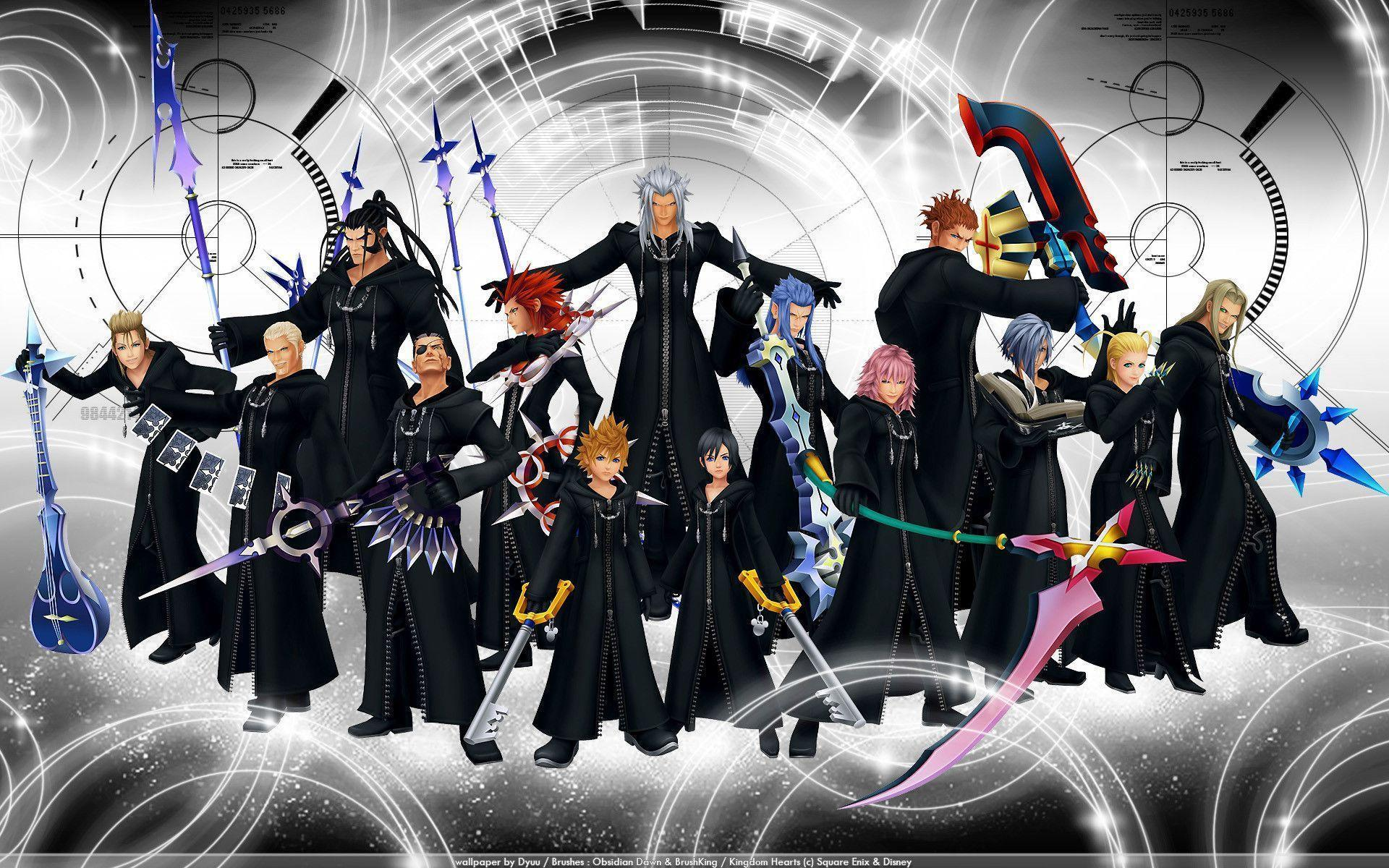 Organization 13 Wallpapers - Wallpaper Cave Kingdom Hearts Organization 13 Wallpaper