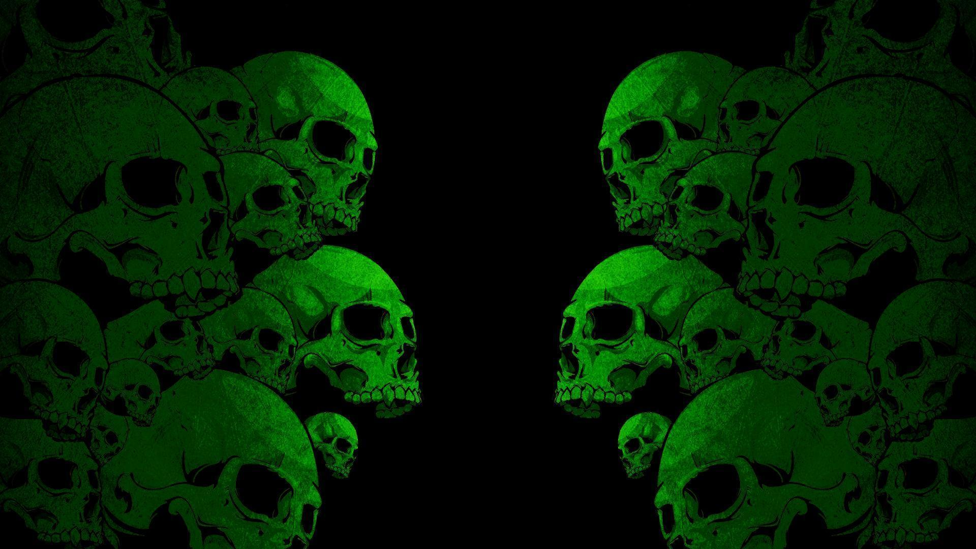 Images For > Green Skull Wallpaper Hd