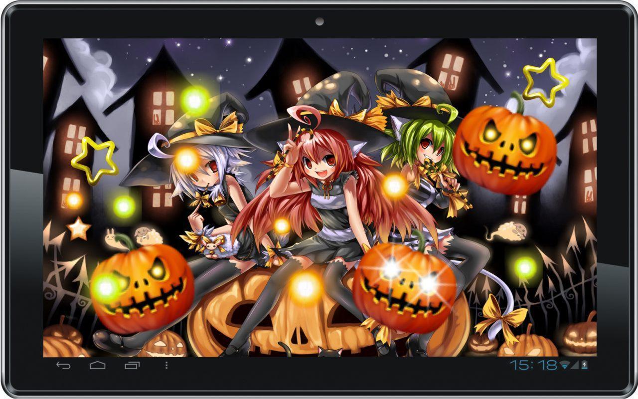 anime halloween wallpapers wallpaper cave