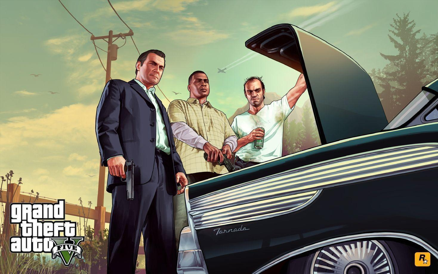 Rockstar release new GTA 5 wallpapers. Official cover revealed ...