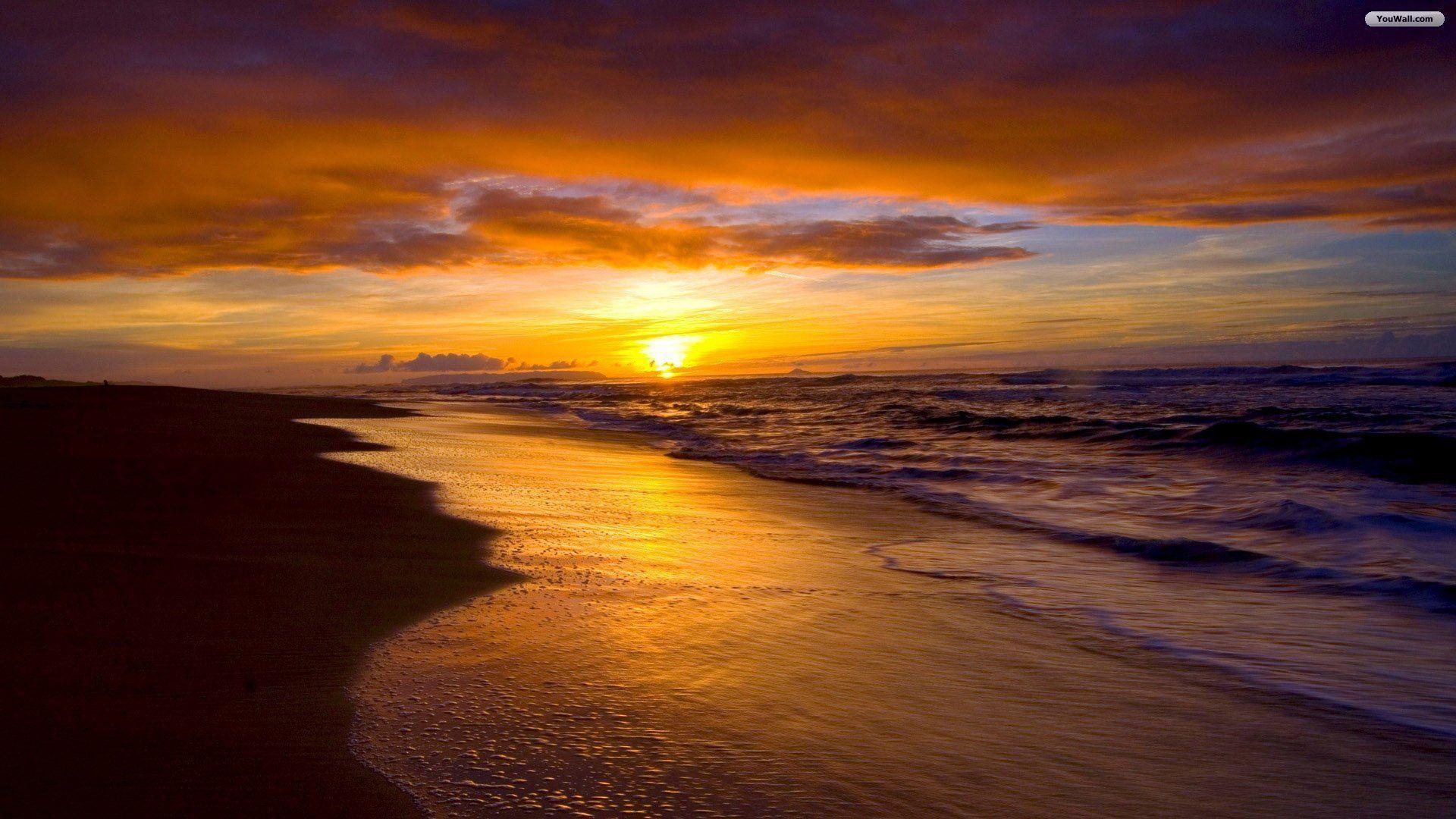 Free Beach Sunset Wallpapers Wallpaper Cave