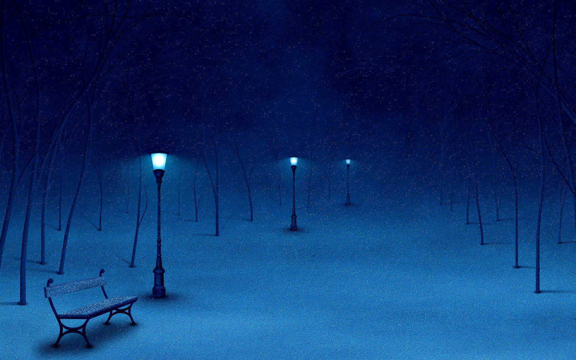Wallpapers For > Winter Night Backgrounds Hd