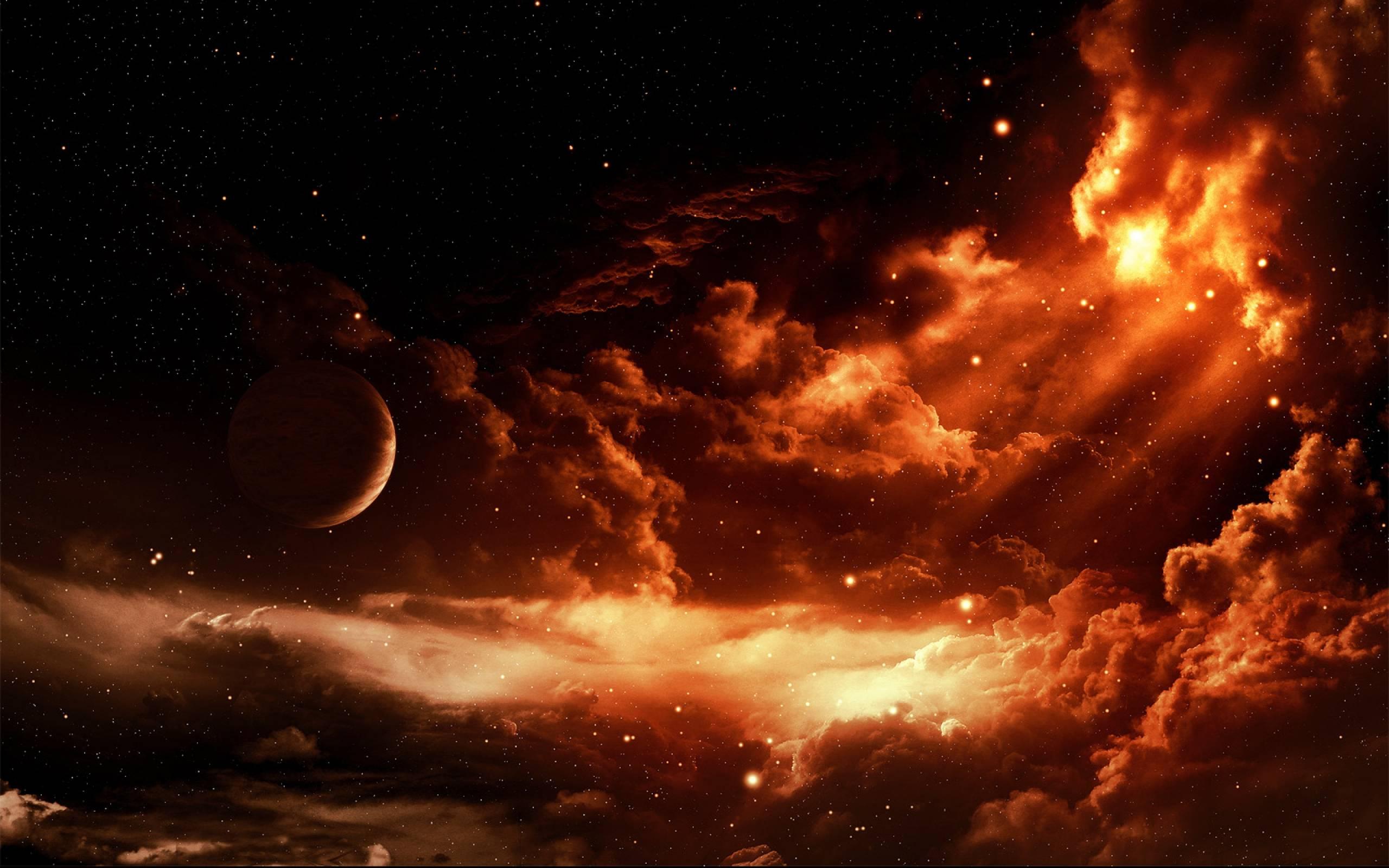 fire planet space wallpaper - photo #22