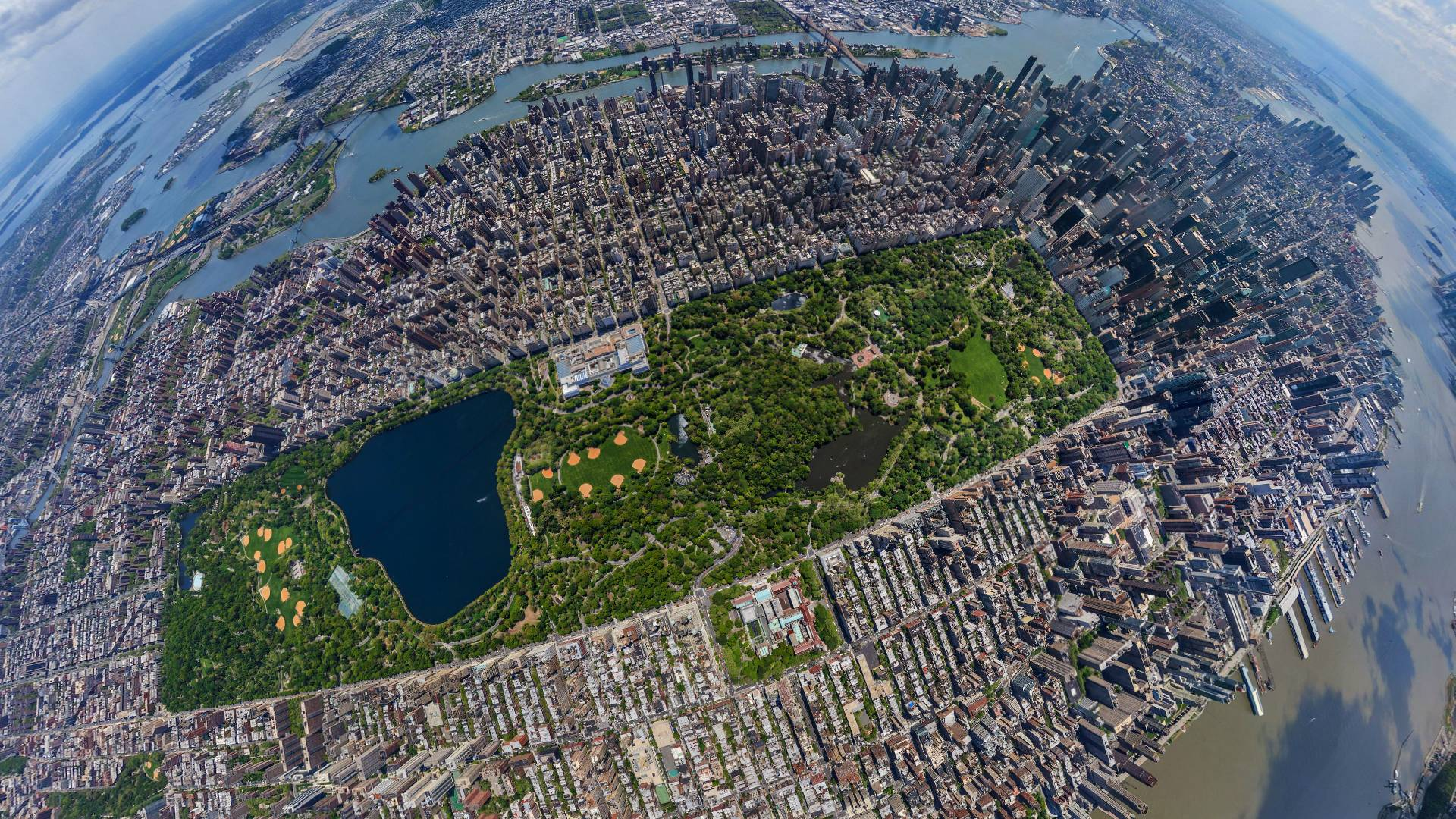 Central Park New York Wide over View desktop wallpapers