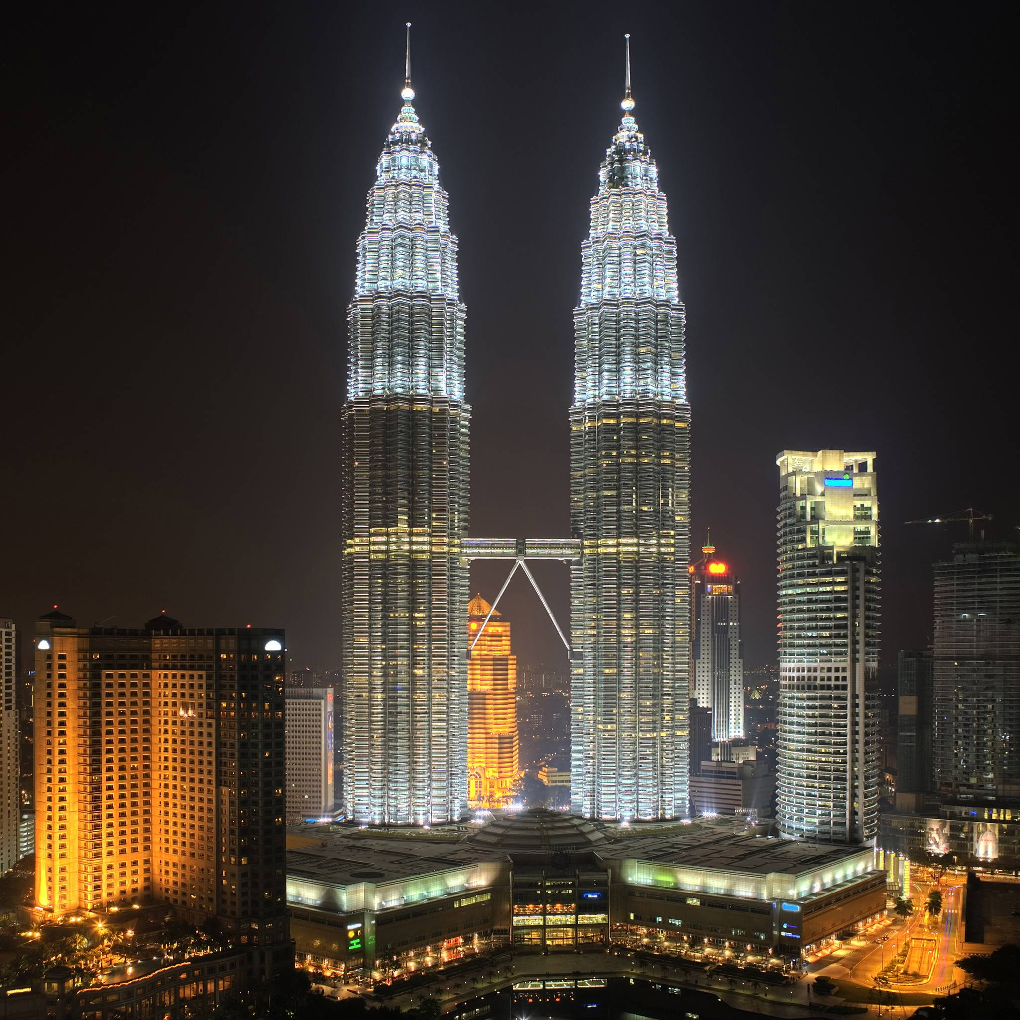 twin towers malaysia hd wallpaper