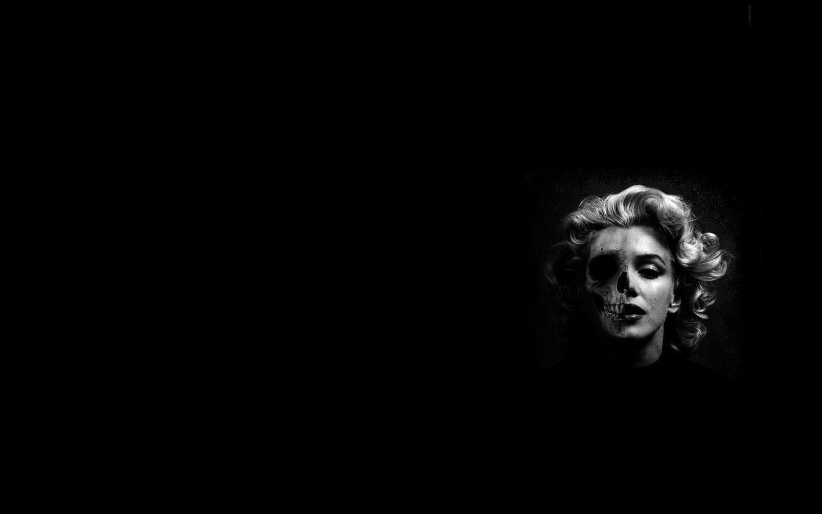 Marilyn Monroe skeleton wallpaper - Skullspiration