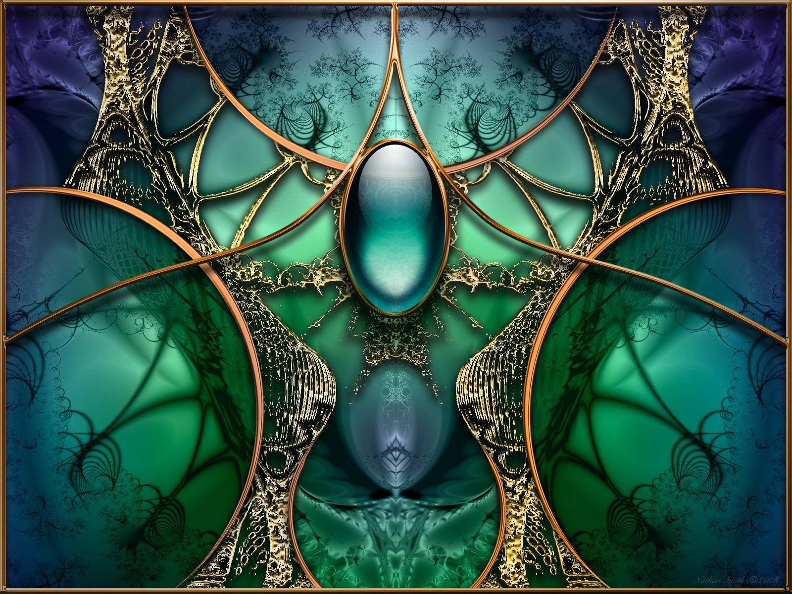 Cosmic Fantasy Fractal Blacklight: Free Fractal Wallpapers