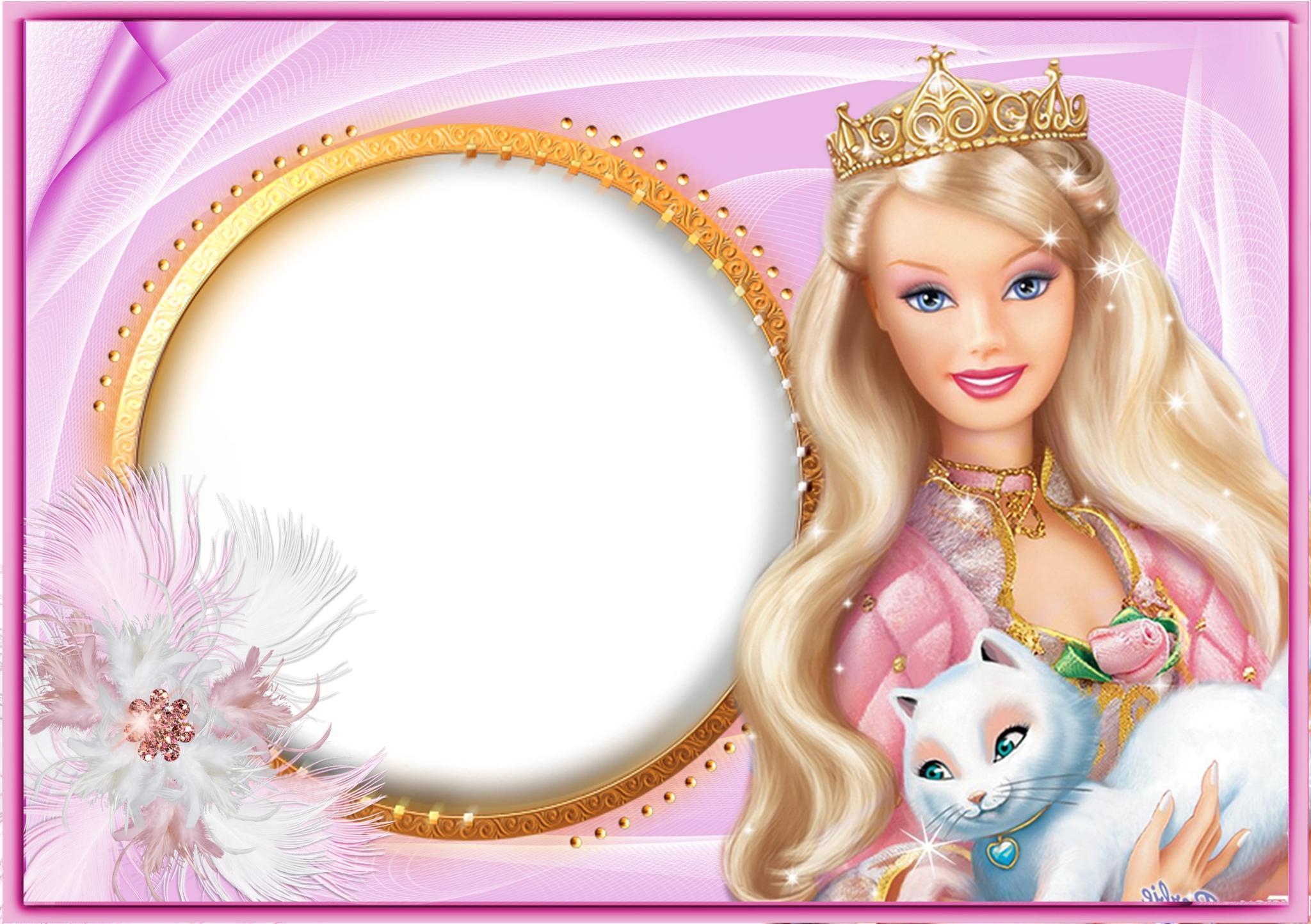 Barbie With Cat HD Wallpaper