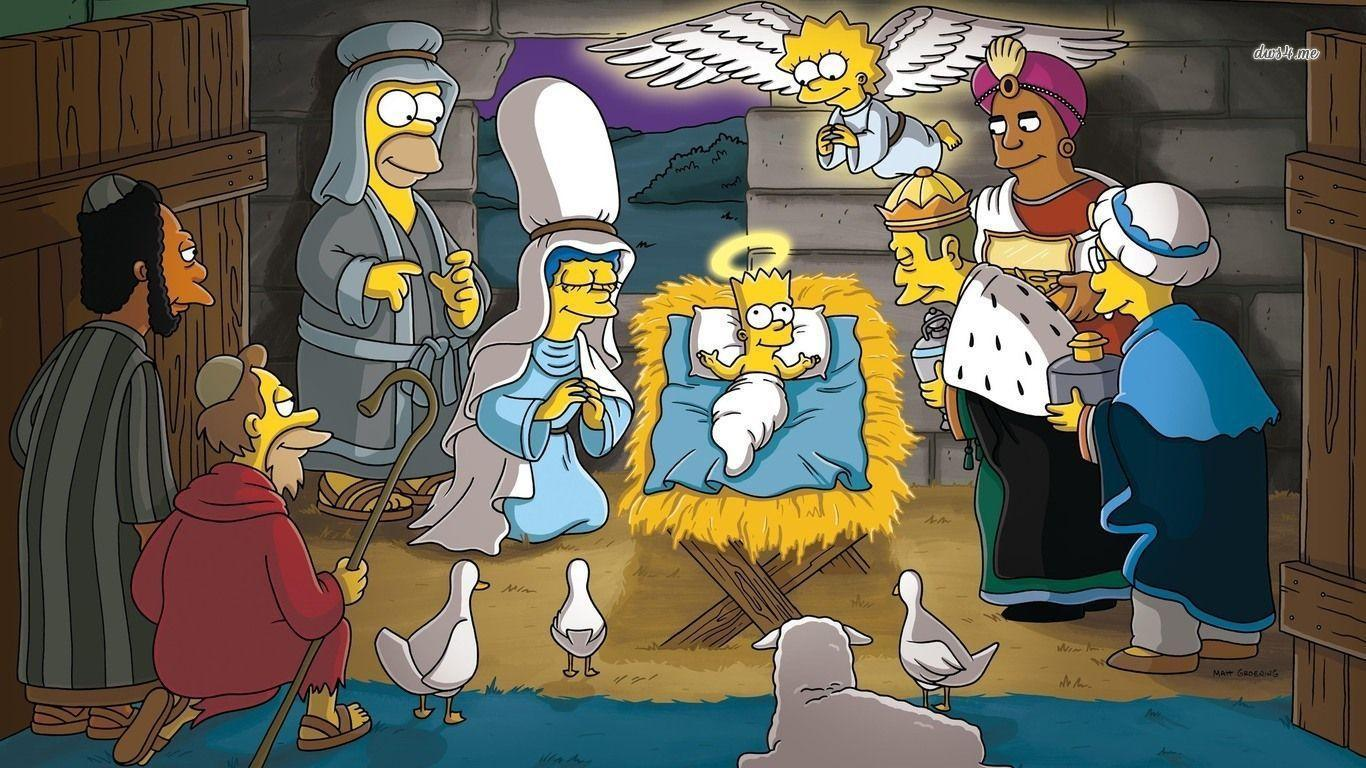 The Simpsons nativity scene wallpapers