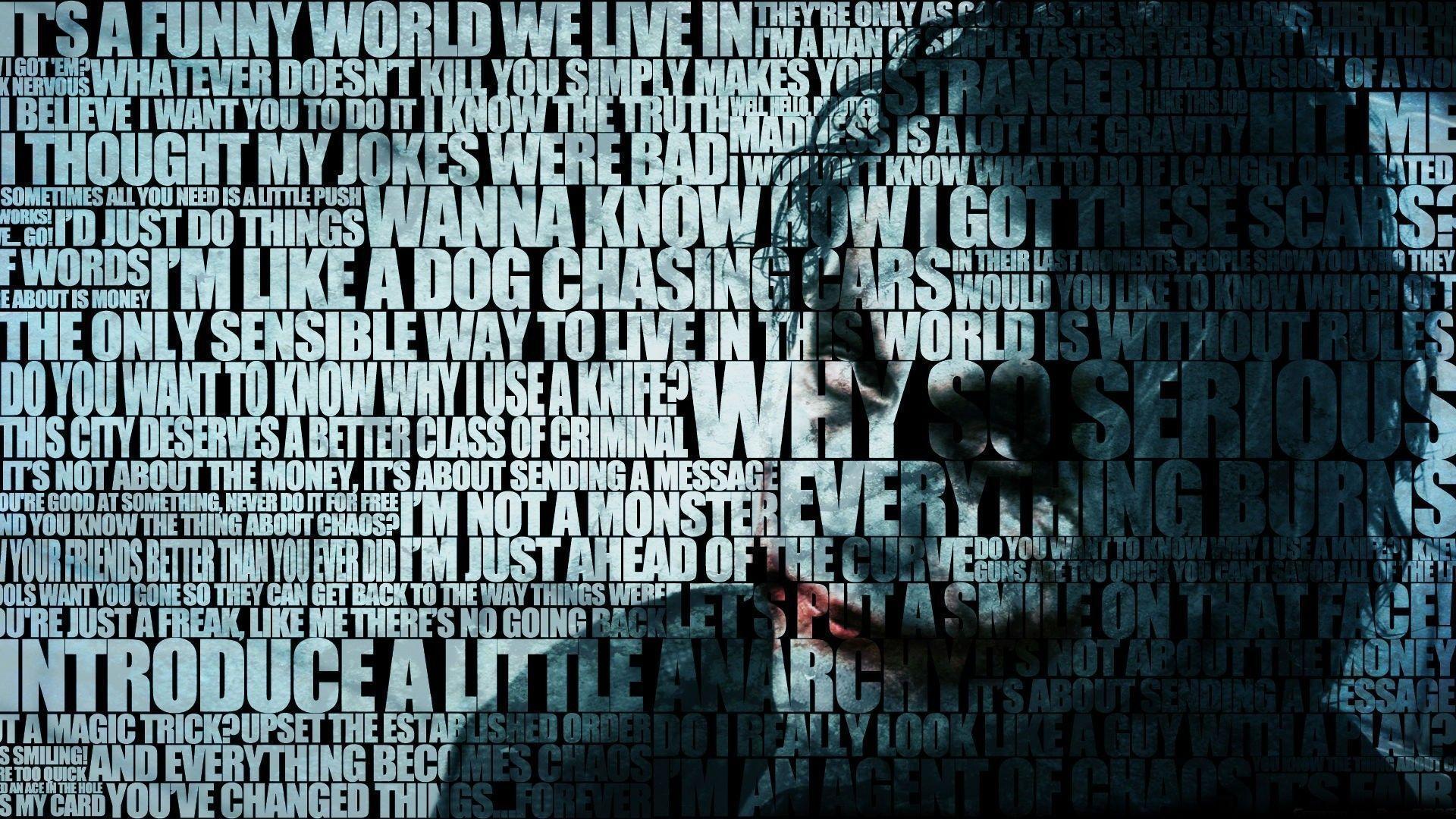 Joker Why So Serious Wallpaper Hd 1080p