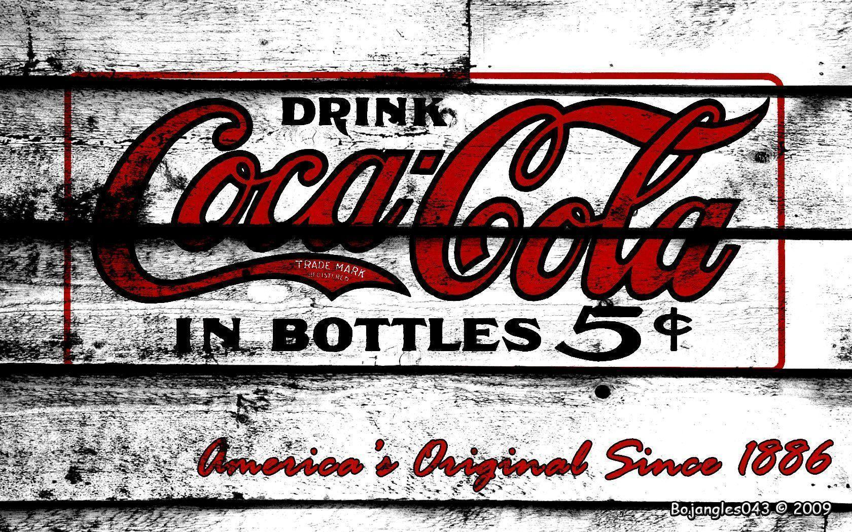 Coca cola wallpapers wallpaper cave - Vintage coke wallpaper ...