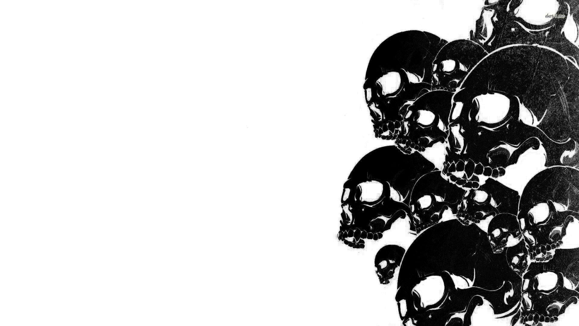 monster skull black wallpaper - photo #25