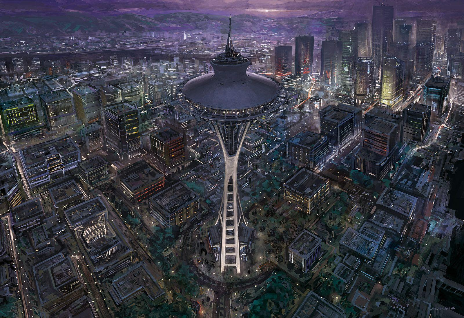 space needle by jOuey- on DeviantArt