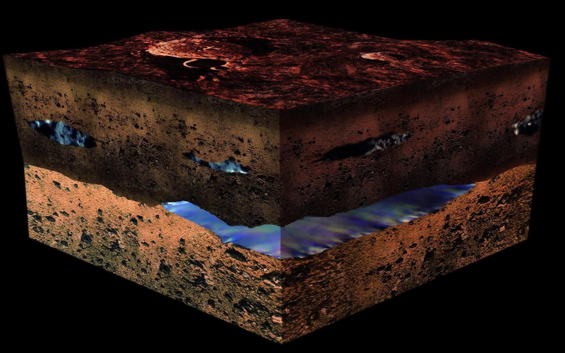Water under the martian surface geology science testing method .