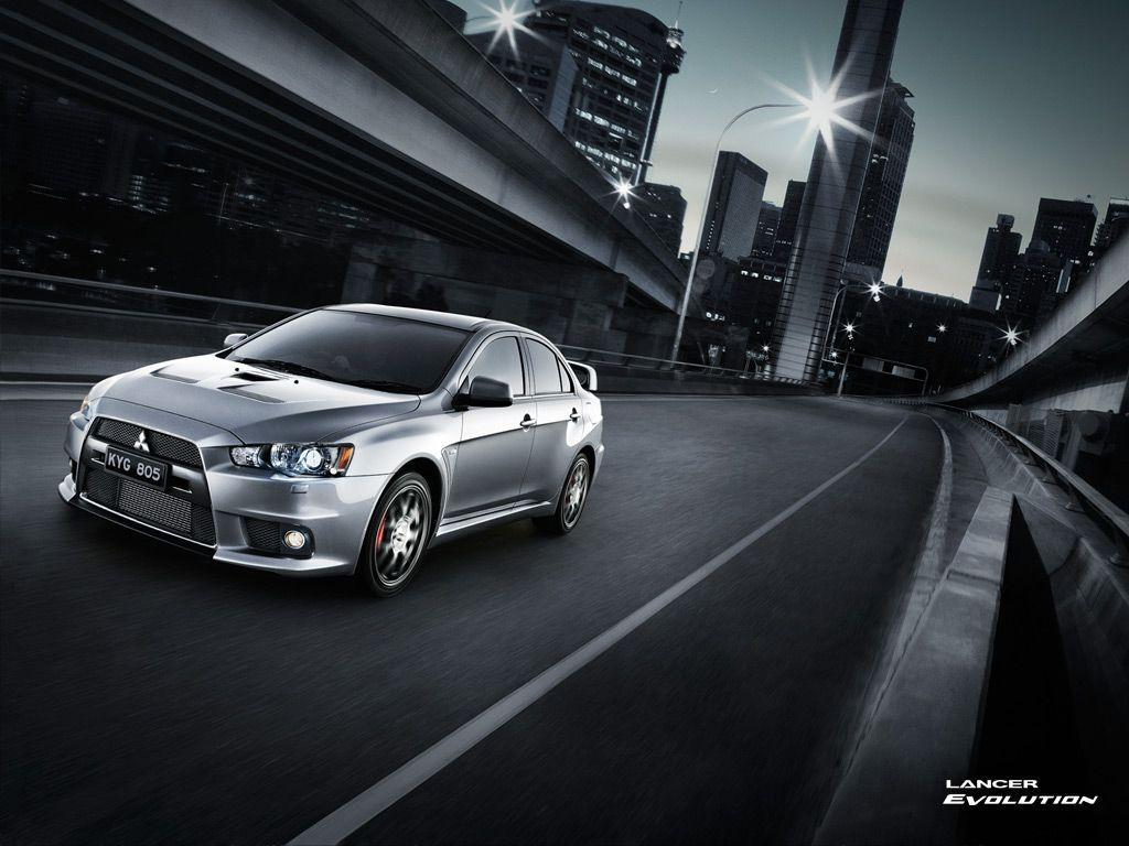 Silver Mitsubishi Lancer EVO X HD Wallpapers for Desktop
