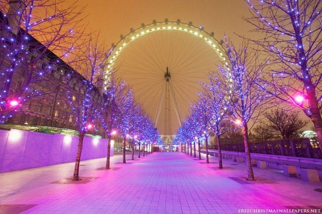 Christmas London Eye Wallpaper