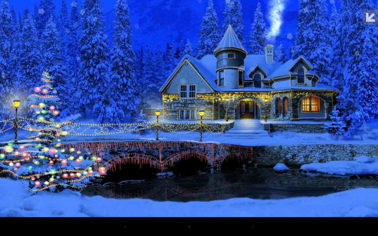 3d Christmas Screensavers Free: Christmas Cottage Wallpapers