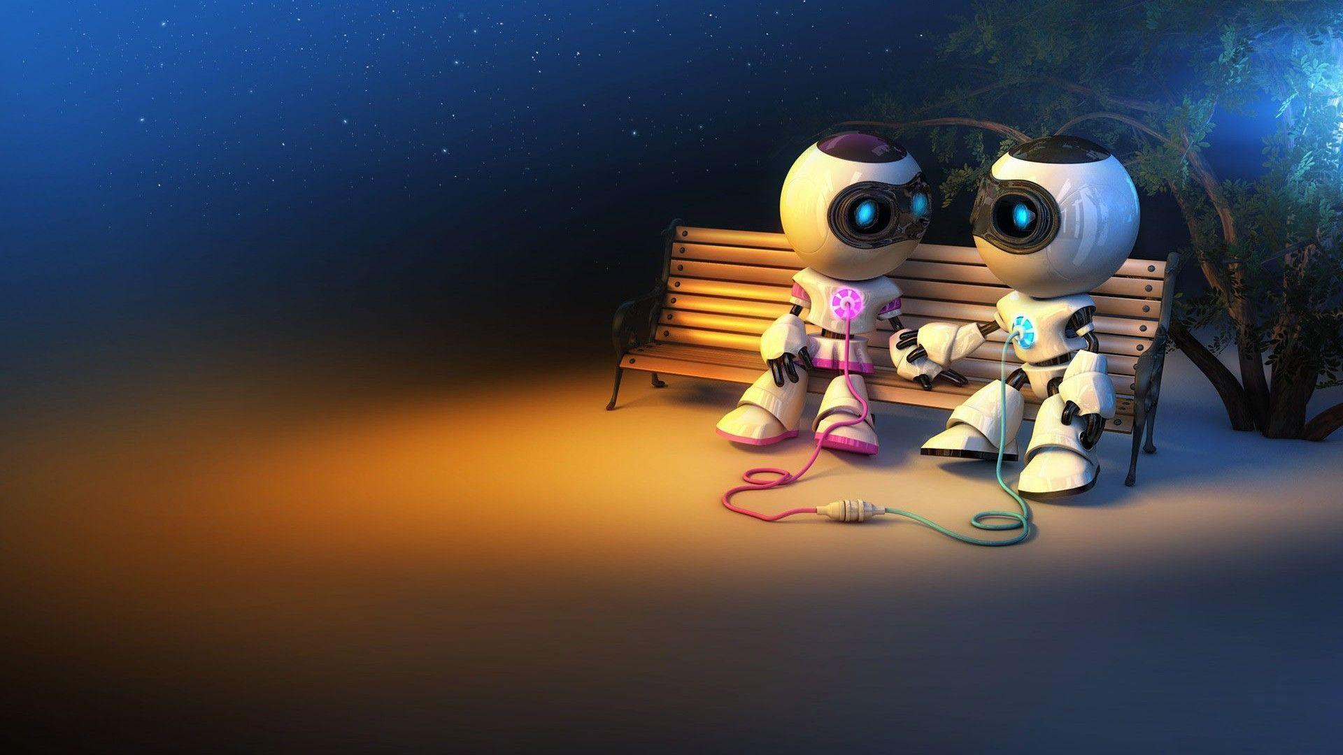 Cute Robot Love Wallpaper Cute Robot Wallpapers ...