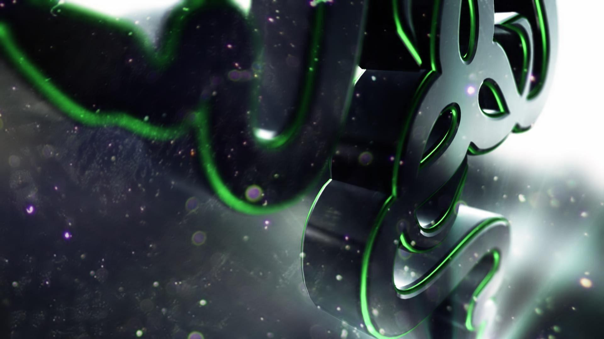 Download Wallpapers 1920x1080 razer, logo, symbol, shape Full HD