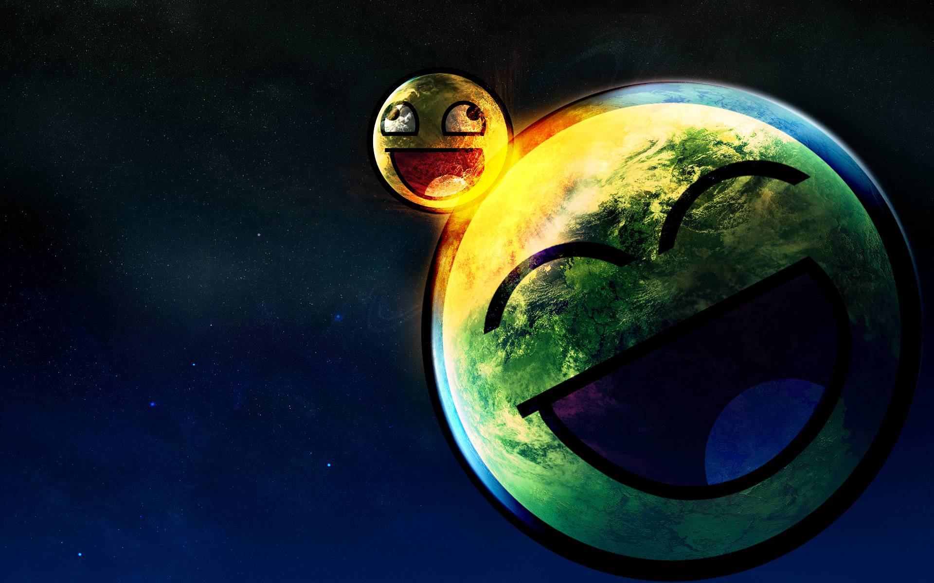 Awesome smiley face space