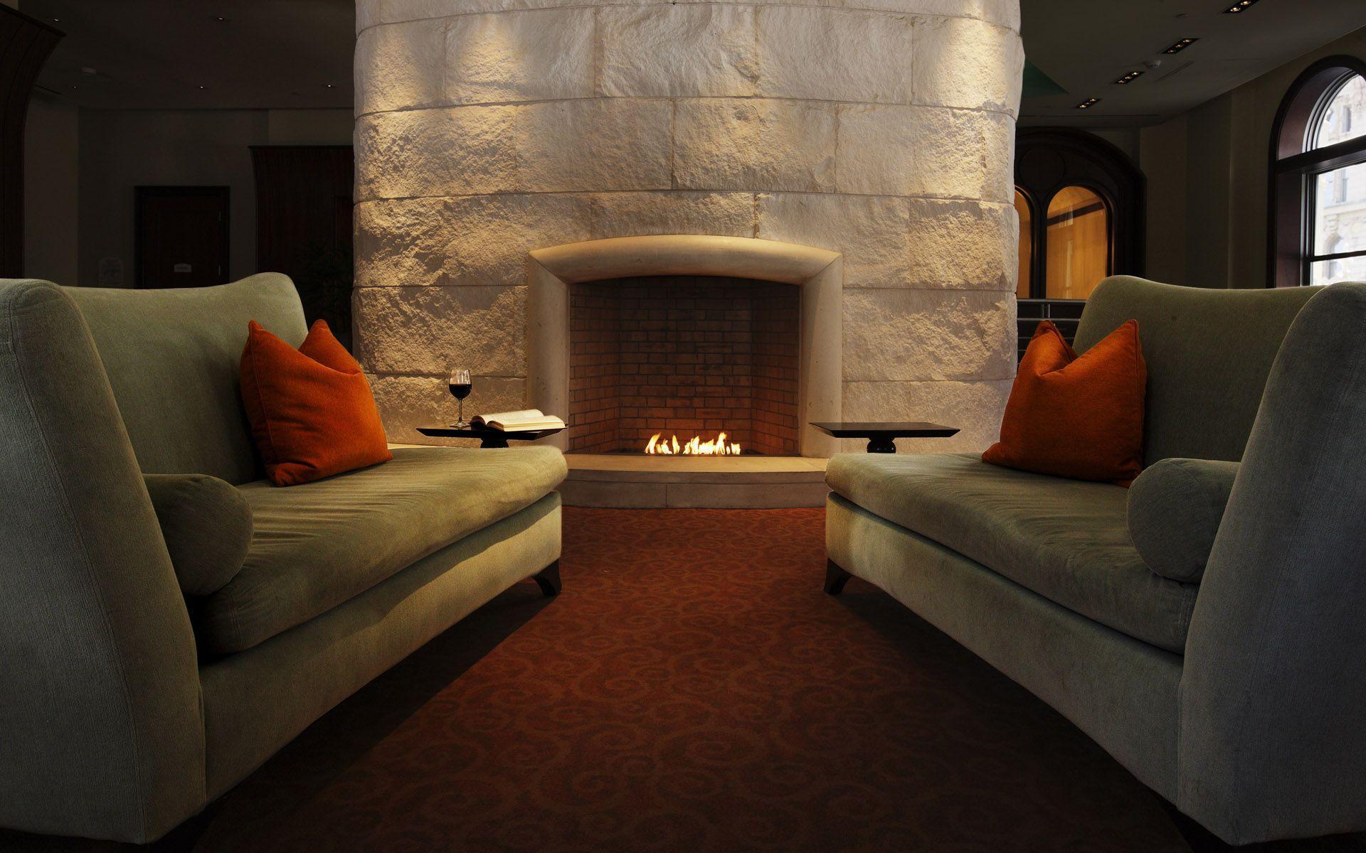interior wallpapers chimney design - photo #7