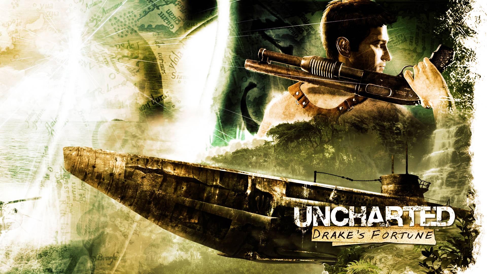 Uncharted - Drake Posing Wallpaper