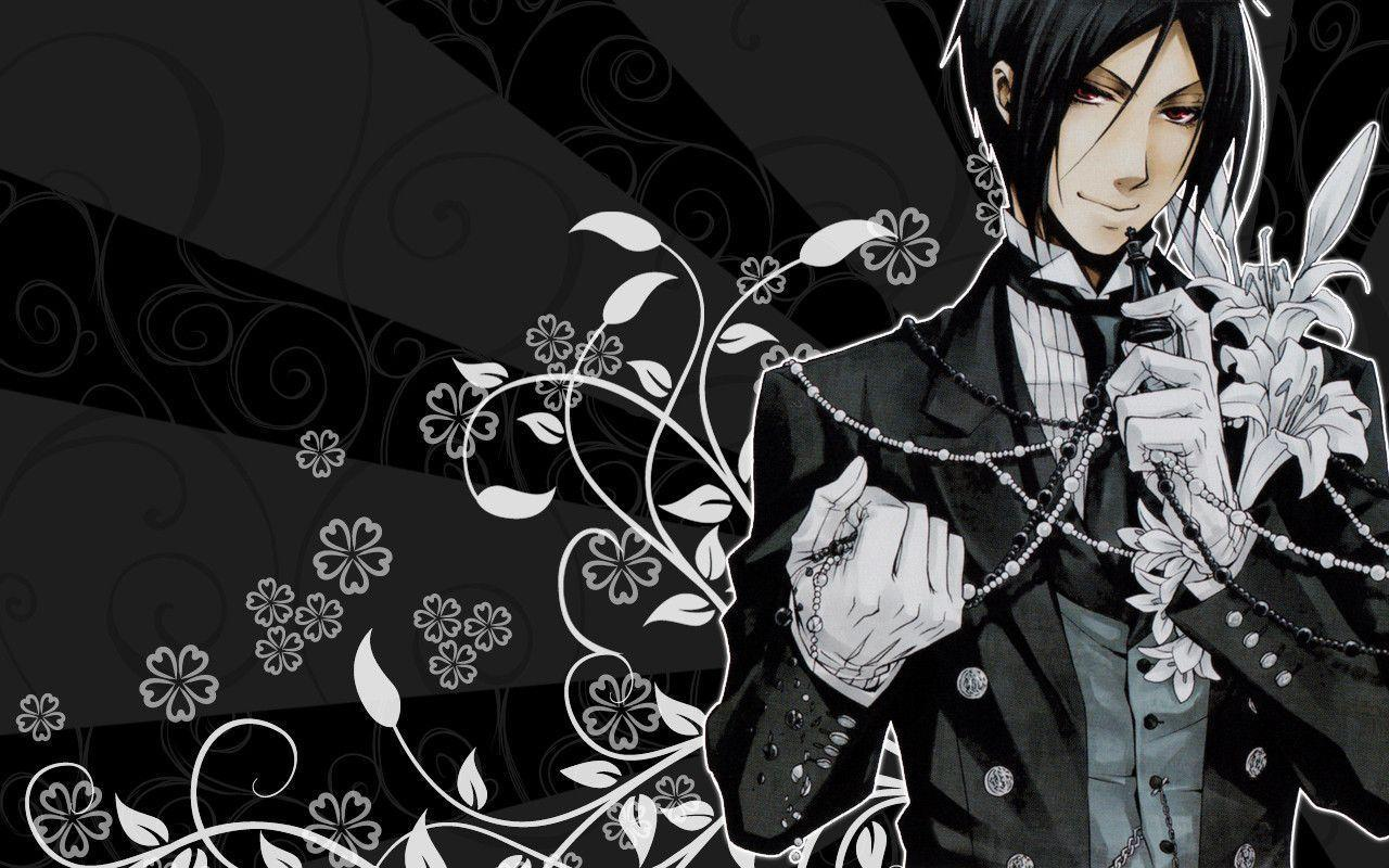 Sebastian's Wallpaper - Kuroshitsuji Wallpaper (4105378) - Fanpop
