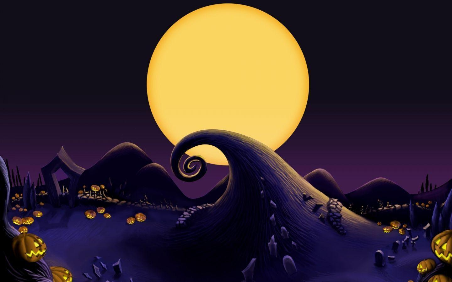 1440x900 The Nightmare Before Christmas Landscape desktop PC and
