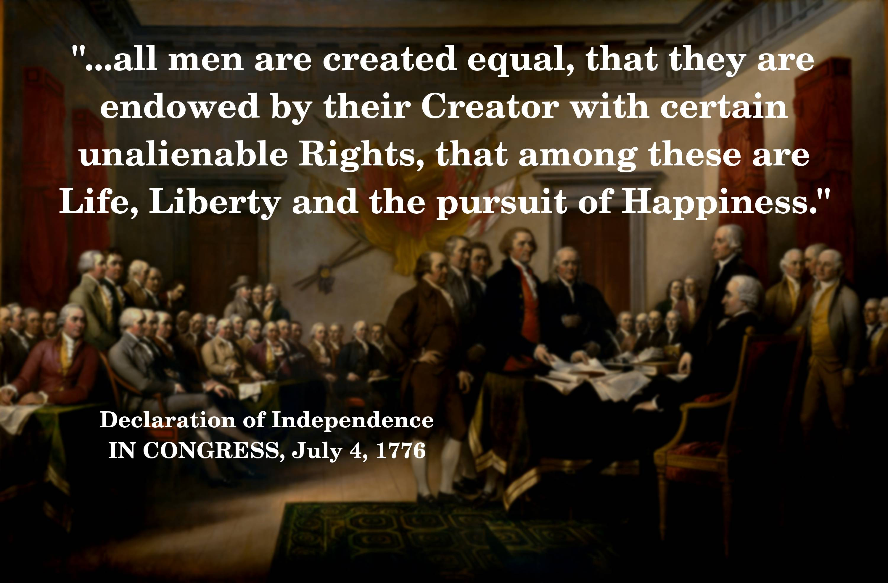equal rights and equal men 1774 1776 Recorded in 1920 july 4, 1776 was the historic day on which the representatives of three millions of people vocalized concord, and lexington, and bunker.