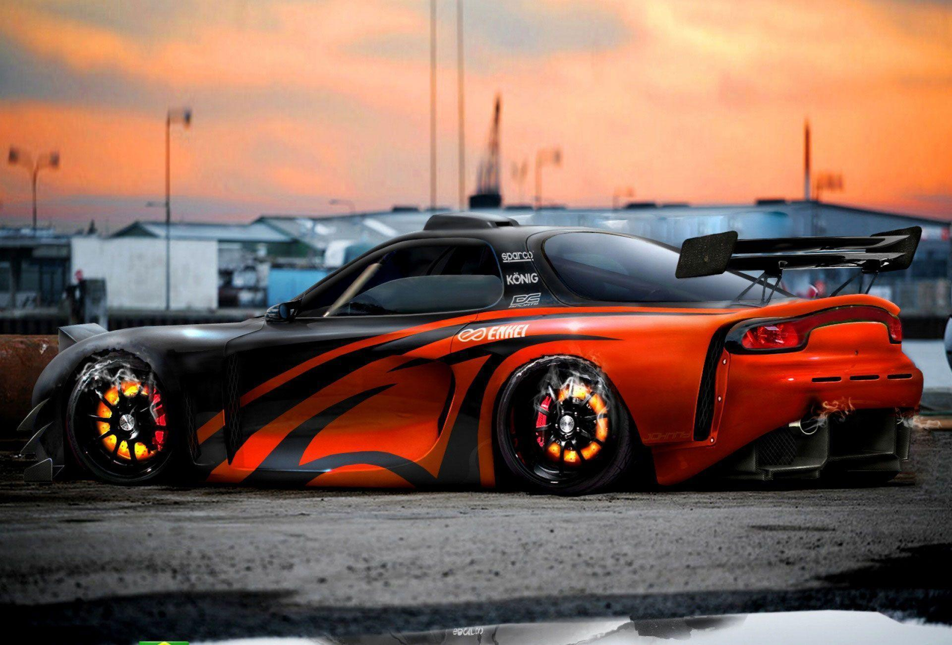 Tuning Mazda RX7 Fire Concept Wallpaper ~ Mazda Car Wallpapers